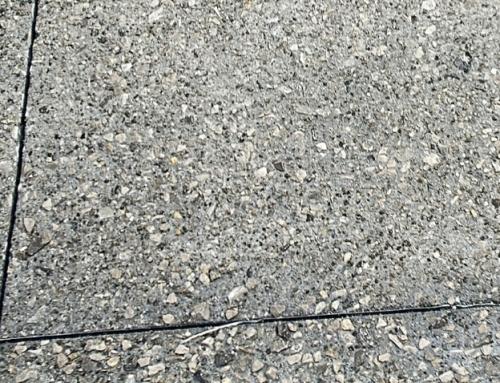 Hormigón desactivado, un toque estético en zonas peatonales